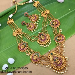 CZ, Ruby & Emerald Stones Leaves &Flower Design Gold Plated Finish Headset Buy Online