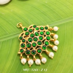 CZ,Ruby Stones With Pearls Sun Flower Design Gold Plated Finish Jumki Buy Online