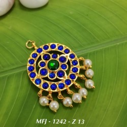 CZ,Ruby,Emerald & Pink Stones With Pearls Peacock Design Gold Plated Finish Jumki Buy Online