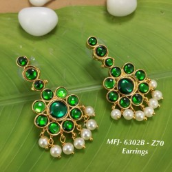 High Quality Kempu & CZ Stones With Pearls Peacock Design Headset For Bharatanatyam Dance And Temple Buy Online