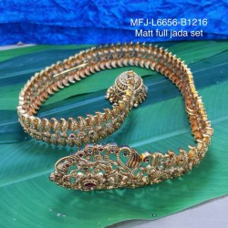 CZ Stones With Pearl Drop Flower & Thilakam Design Gold Plated Finish Jumki Buy Online