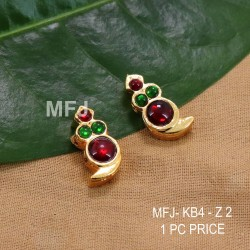 Ruby & Emerald Stones Flowers Design Gold Plated Finish Pendant With Designer Chain Buy Online