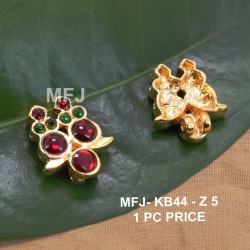 1 Gram Gold Dip CZ, Ruby & Emerald Stones Lakshmi, Peacock & Flowers Design Vamki Buy Online