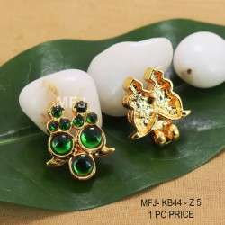 Ruby Stones With Pearl Drop Flower & Thilakam Design Gold Plated Finish Jumki Buy Online