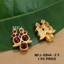 Ruby Stones With Pearls Drops Peacock Design Gold Plated Finish Jumki Buy Online