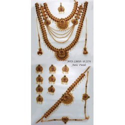 Ruby Stones With Pearls Drop Peacock & Flowers Design Gold Plated Finish Jumki Buy Online