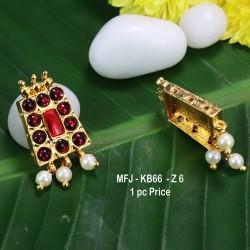 Ruby & Emerald Stones Flowers & Leaves Design Mat Finish Jumki Buy Online