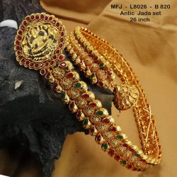 Ruby & Emerald Stones Peacock & Flowers Design Mat Finish Jumki Buy Online