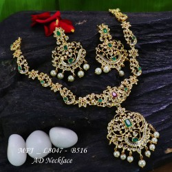 CZ Stones With Pearl Drop Peacock & Flowers Design Gold Plated Finish Jumki Buy Online