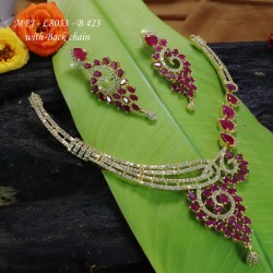 Ruby & Emerald Stones Peacock Design With Pearls Mat Finish Hair Clip Buy Online