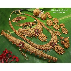 Red Colour Beads With Golden Colour Polished Designer Pendant Necklace Buy Online