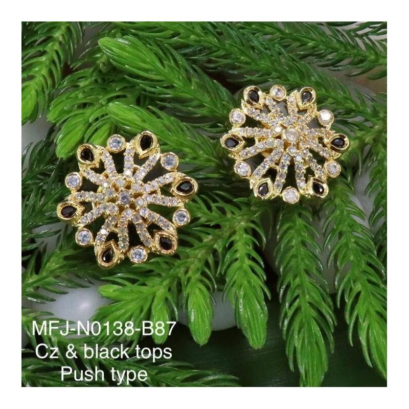 Cz,Ruby & Emerald Stones, Peacock & Jumki Design With Balls Drops Antique Finish set Buy Online