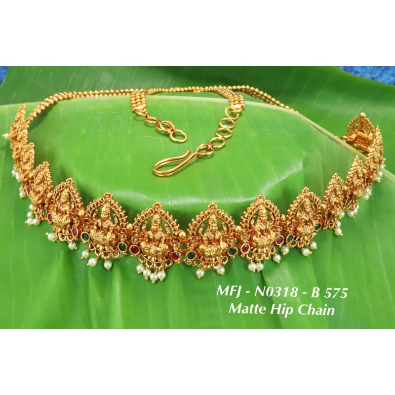 High Quality Kempu Stones With Pearls Flowers Design Jhumki (for bharatanatyam dance and temple) Buy Online