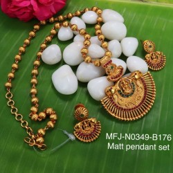 Kempu Stones With Pearls Flowers Design Pendant For Bharatanatyam Dance And Temple Buy Online