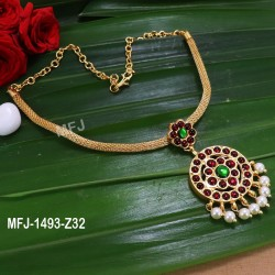 Red & Green Colour Stones With Pearls Peacock Design Gold Plated Finish Earrings Buy Online
