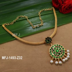 White, Red & Green Colour Stones With Pearls Peacock Design Gold Plated Finish Earrings Buy Online
