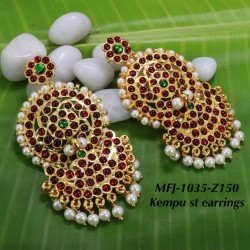 2.4 Size White, Red & Green Colour Stones Flowers Design Gold Plated Finish Six Set Bangles Buy Online