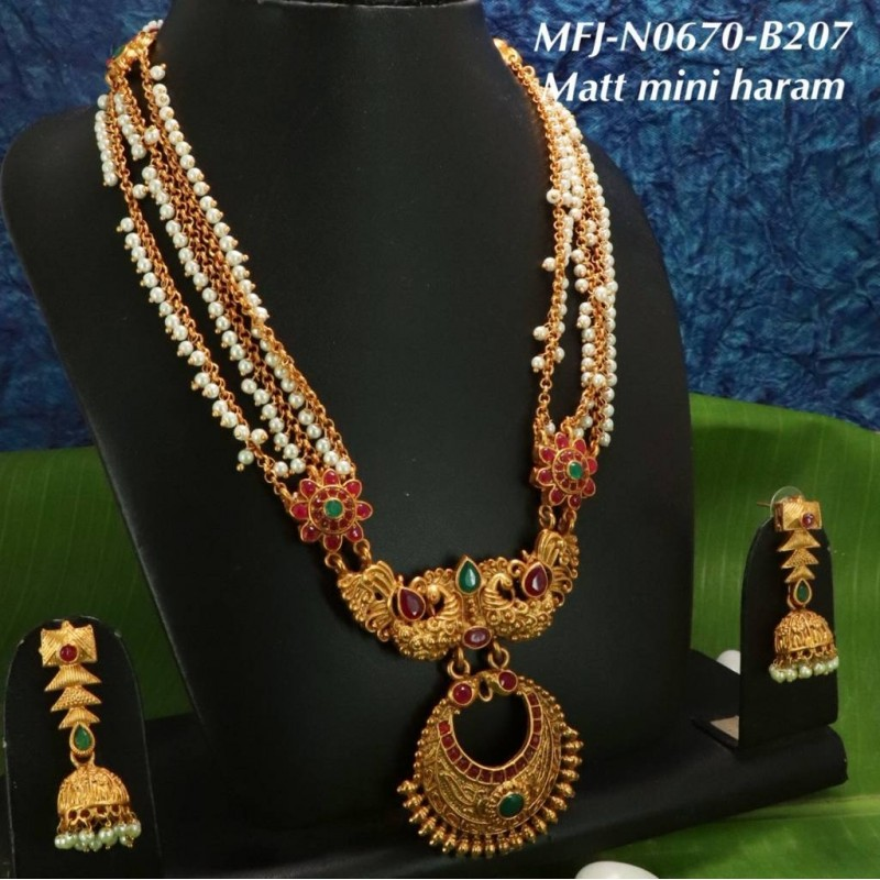 Black Thread With High Quality Designer Pendant Necklace For Temple And Bharatanatyam Dance Buy Online