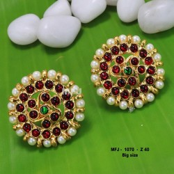 Ruby Stones With Gold Balls Lakshmi And Mango  Design Matt Finished Full Bridal Set  Buy Online