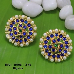 Ruby,Emerald Stones With Gold Balls Lakshmi And Mango Design Matt Finished Full Bridal Set  Buy Online