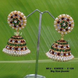 Ruby Stones With Golden Balls Lakshmi With Parrot Design Matt Finished Full Bridal Set  Buy Online