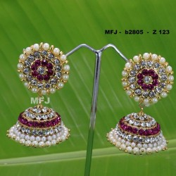 Ruby & Emerald Stones With Golden Balls Lakshmi With Mango Design Matt Finished Full Bridal Set  Buy Online