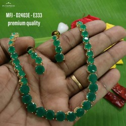 Ruby Stoned Peacock With Lakshmi Design Matte Plated Finished Haram Set Buy Online