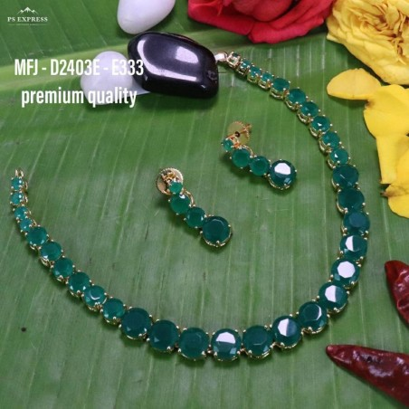 Ruby Stoned With Pearl Drops Peacock And Lakshmi Design Matte Plated Finished Haram Set Buy Online