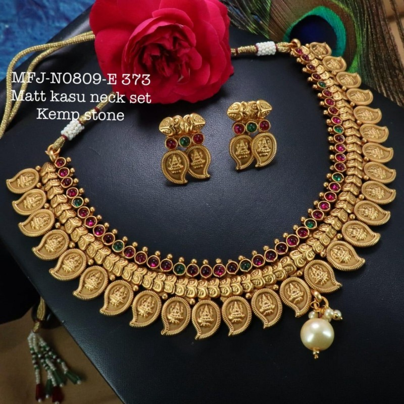 Blue Precious Stones Gold Plated Finish Necklace Buy Online