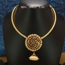 CZ Precious Stones Gold Plated Finish Necklace Buy Online