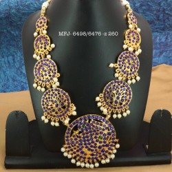 Ruby Precious Stones With Pearls Gold Plated Finish Necklace Buy Online