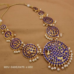 CZ Precious Stones With Pearls Gold Plated Finish Necklace Buy Online