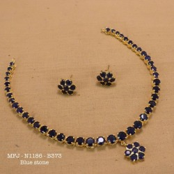 CZ Precious Stones With Real Water Pearls Gold Plated Finish Necklace Buy Online