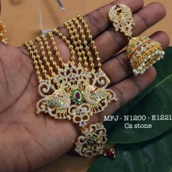 Honey Precious Stones With Real Water Pearls Gold Plated Finish Necklace Buy Online
