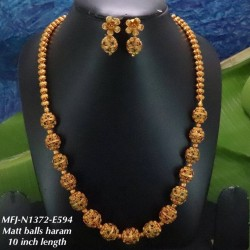 Ruby & Emerald Stones With Golden Balls Flower With Peacock Design Matt Finished Full Bridal Set  Buy Online
