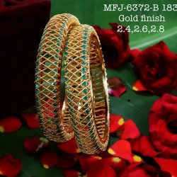 Blue Colour Kempu Stones Designed Golden Colour Polished Jewellery Making Bit(1pc Price) Online