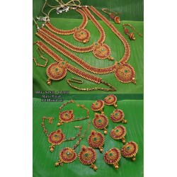 Red & Green Colour Kempu Connector Stones Double Heart Designed Golden Colour Polished Jewellery Making Bit(1pc Price) Online