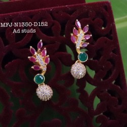 CZ,Ruby Stones With Golden Balls Peacock With Flower Design Mat Finish Hip Belt Buy Online