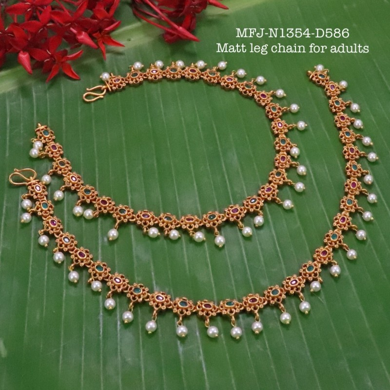2.4 Size Kempu Ruby Stones Thilakam Design Gold Plated Finish Two Pair Bangles Buy Online