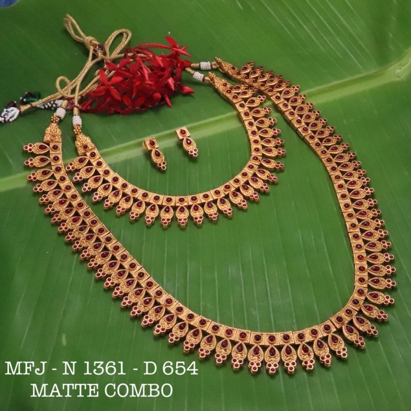 2.8 Size Kempu Ruby Stones Thilakam Design Gold Plated Finish Two Pair Bangles Buy Online