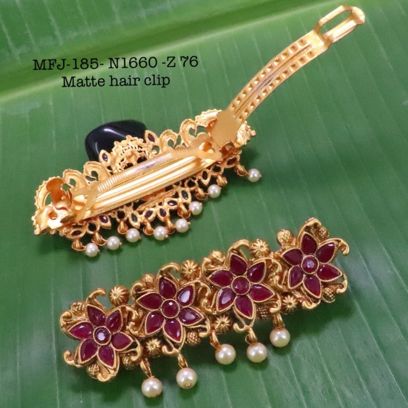 CZ,Ruby Stones With Pearls Drops Peacock With Leafs Design Gold Plated Finish Necklace Buy Online