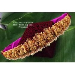 CZ,Ruby Stoned With Golden Balls Peacock And Flower Design AD Stoned Golden Matte Plated Finished Neck Set Buy Online