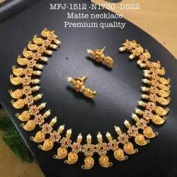 Kempu Connector Blue Colour Stones Mango Design Golden Colour Polished Jewellery Making (1pair Price) Online