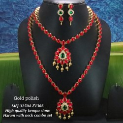 Red&Green Stones Golden Colour Polished Lakshmi And Elephant Design Oddiyanam For Bharatanatyam Dance And Temple Buy Online