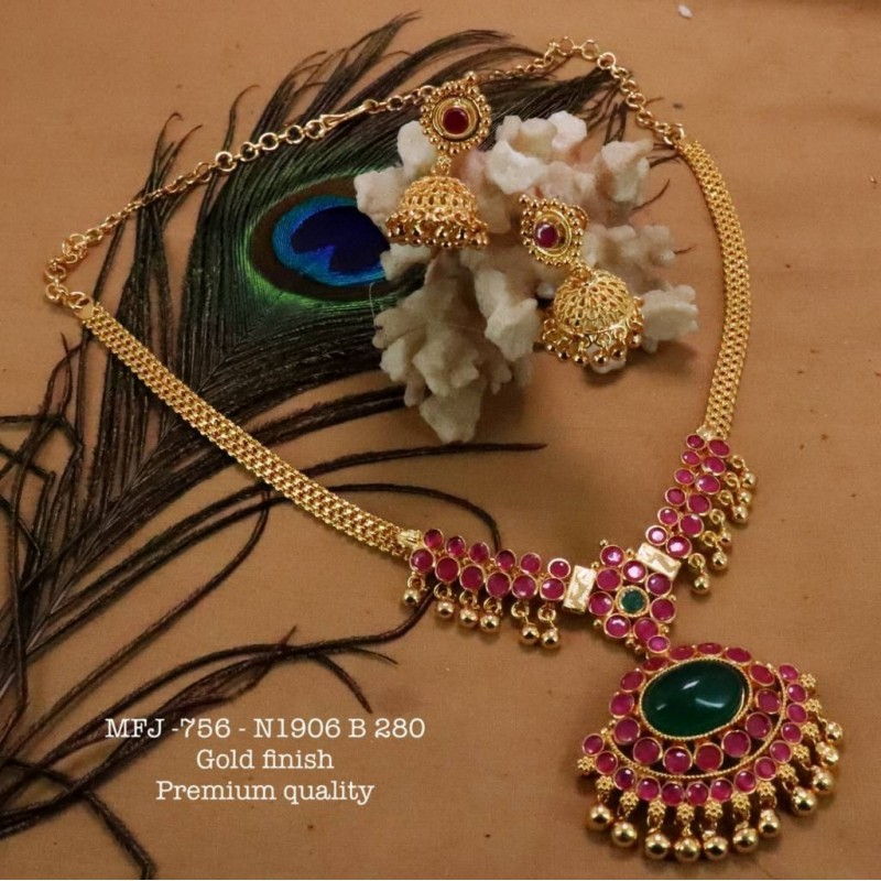 CZ,Ruby&Emerald Stones Design Gold Plated Finish Watch(2.4,2.6) Can Ware Buy Online