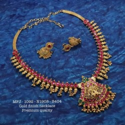 Ruby Stoned Lakshmi Design Matte Finished Agarabatti Stand Set Online