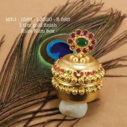 Green&Red Kempu Stones With Pearls Sun&Moon Design Earings With Mattel For Bharatanatyam Dance And Temple Buy Online