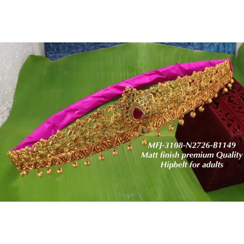 2.6 Ruby&Emerald Stoned Flower Designer Mat Finished Open Type Bangles Buy Online