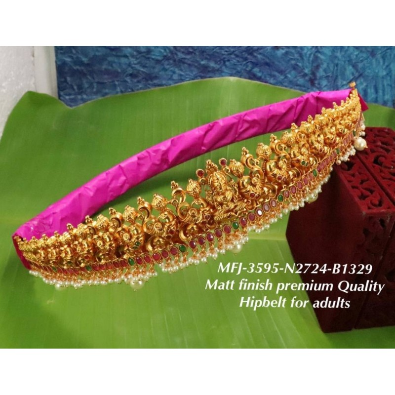2.6 Size Kempu Ruby&Emerald Stoned Flower With Leafs Designer Mat Finished Bangles Buy Online