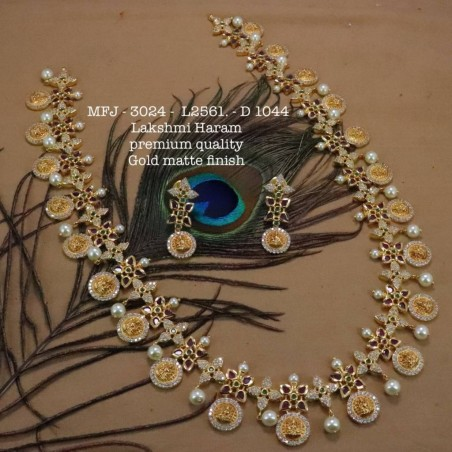 LCD(Honey) Stones Flower With Leafs Design Gold Plat Finished Necklace Buy Online